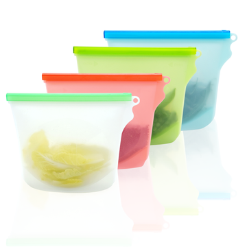 Reusable BPA-free Silicone Fitness Food Storage Bag