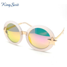 Europe style for for Fashion Sunglasses Popular Oversized Sunglasses For Woman Round Frame export to Estonia Suppliers