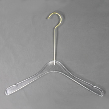 Custom Clear Acrylic clothes coat hangers