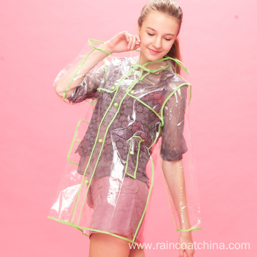 Customized for EVA Raincoat Trendy EVA Clear Raincoat for Ladies export to United States Manufacturers