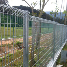 galvanized roll top welded wire mesh fencing panel