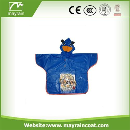 Hooded Cartoon Poncho