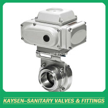 Electric Actuated Sanitary Butterfly Valves Clamped