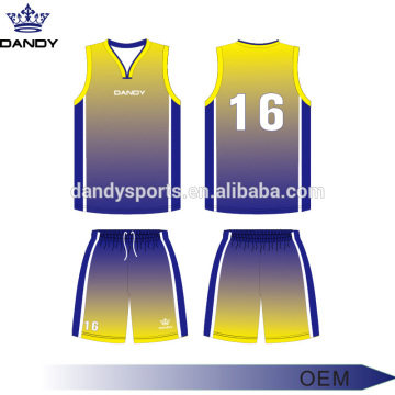 Best Price for for Custom Basketball Jerseys custom ombre sublimated basketball kit supply to Syrian Arab Republic Exporter