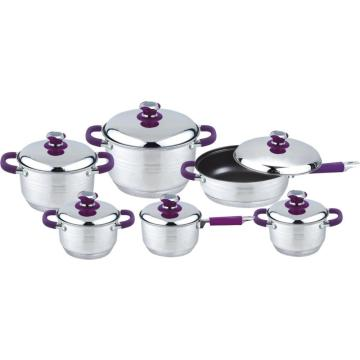 Therm soft touch 12pcs cookware set