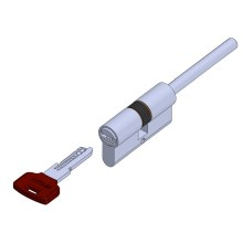 Long bar sided pc key cylinder lock