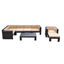 Competitive Price for Modular Seating Rattan Furniture Outdoor Patio Wicker Sofa supply to United States Factories