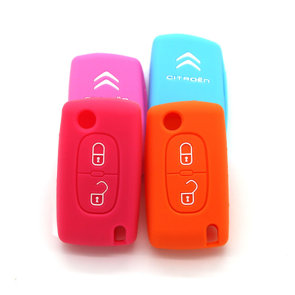 Soft rubber car key cover
