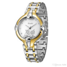 Stainless Steel Watch Round Simulation Lady Casual