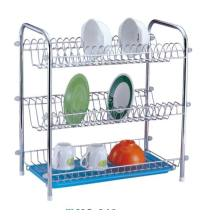 China for Supply Dish Drainer Rack, Stainless Steel Dish Rack, Kitchen Dish Rack from China Supplier 3 Tier Dish Rack With Plastic Tray supply to Italy Manufacturer
