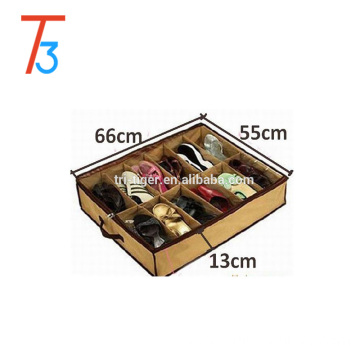 12 grids underbed shoe organizer / shoe storage box for sale