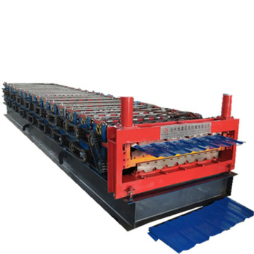 Double deck profile layer forming machine