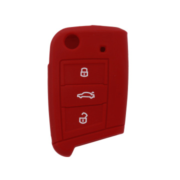 ODM for VW Silicone Key Fob Cover Embossed silicone car key cover golf 7 export to United States Exporter