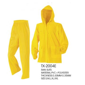 Pvc Waterproof Rain Coat Hooded Rain Coat
