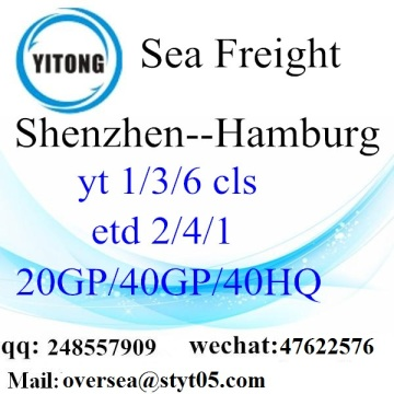 Shenzhen port sea freight shipping to Hamburg