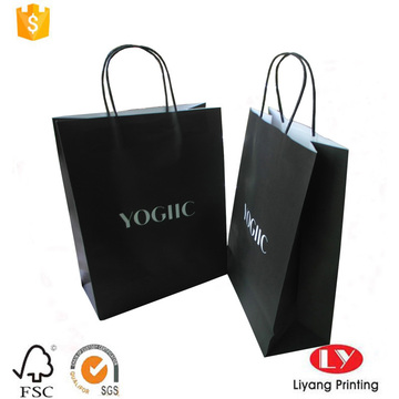 Rigid black printed kraft paper packaging bag