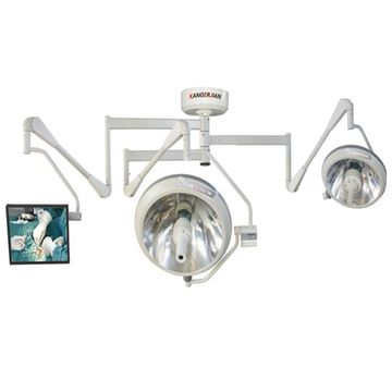 Operating lamp set with camera screen display