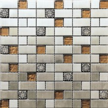 special design mosaic with different material