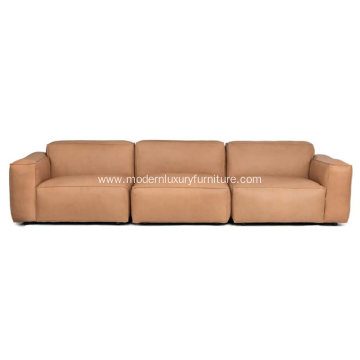 Solae Canyon Tan Leather Sofa