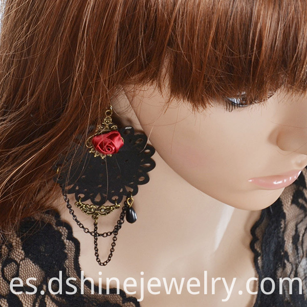 Black Lace Earrings For Women
