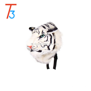 3D design simulation animals head backpack with plush
