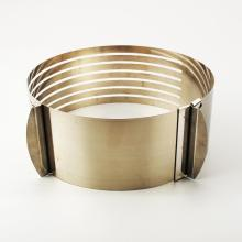 High quality stainless steel cake mould adjustable
