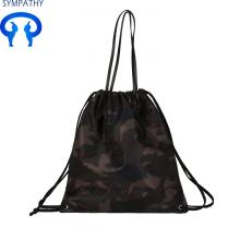 Online Manufacturer for Black Nylon Bag Simple  drawstring women's shoulder heavy duty backpack supply to British Indian Ocean Territory Manufacturer