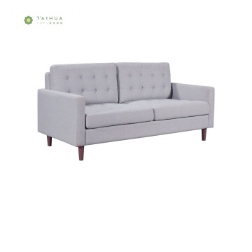 Ang Cafe at Home Gumamit ng Wood Legs Fabric Double Sofa