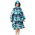 Unisex Hooded Zip up Rain Poncho Waterproof Raincoat