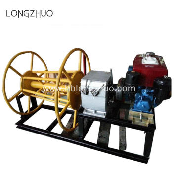 Optical Wire Pushing Engine Driven Powered Winch