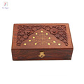 Hand carved custom Jewelry Storage wooden Box