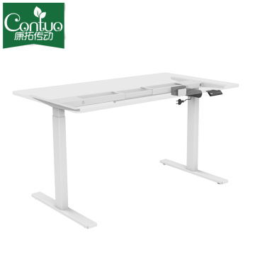 White Electric sit stand Desk Frame Workstation Single Motor Ergonomic Standing Height Adjustable Base computer Desk Frame