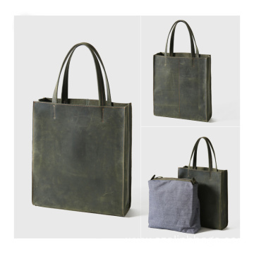 Custom Simple PU Tote Bag with A Pouch