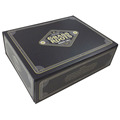 Black Geometrical Pattern Sponge Interior Folding Paper Box