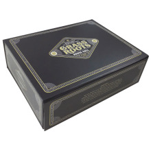 Black Cardboard Luxury Baseball Cap Packaging Box