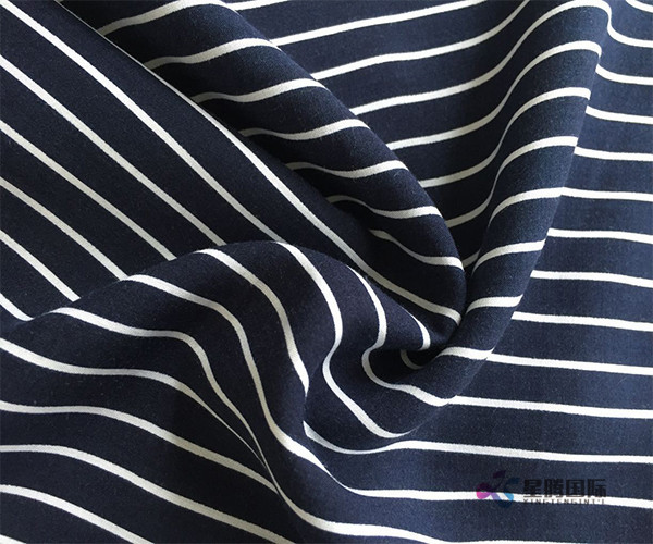 Stripe Comfortable 100% Rayon Fabric
