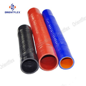 Wire reinforced corruaged radiator silicone hose