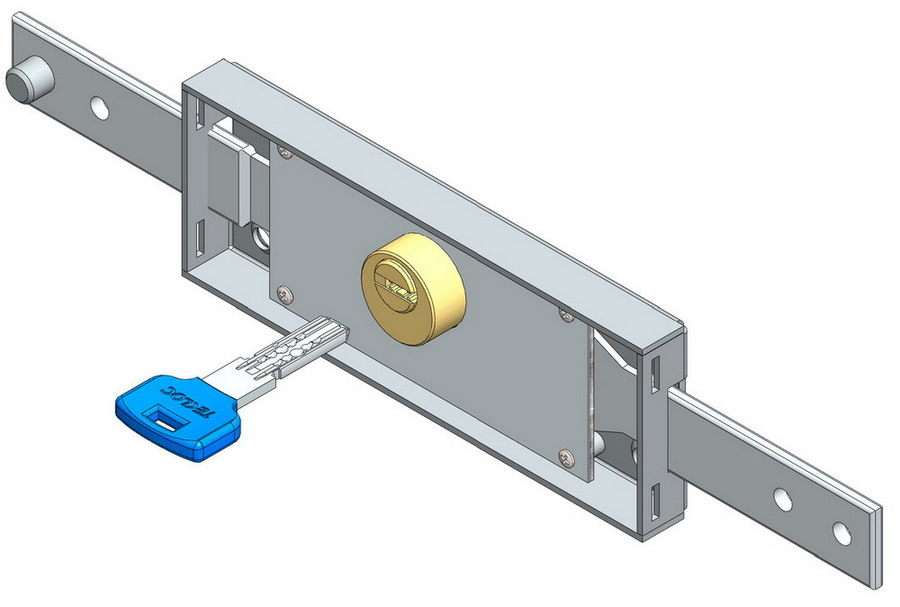 Centre Roller Shutter Lock with Dimple Key