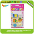 Round Colorful Dolls School Eraser
