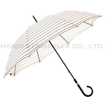 Ladies Manual Open Straight Umbrella With Pico Lace