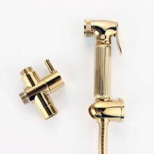 ABS Brass Hand Shower Bidet Spray Golden Shattaf