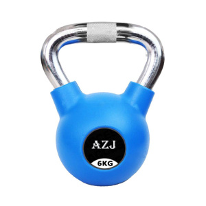 Chrome Handle Rubber Coated Kettlebell