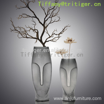 Eco friendly fashion crystal glass vase design unique decorative vase