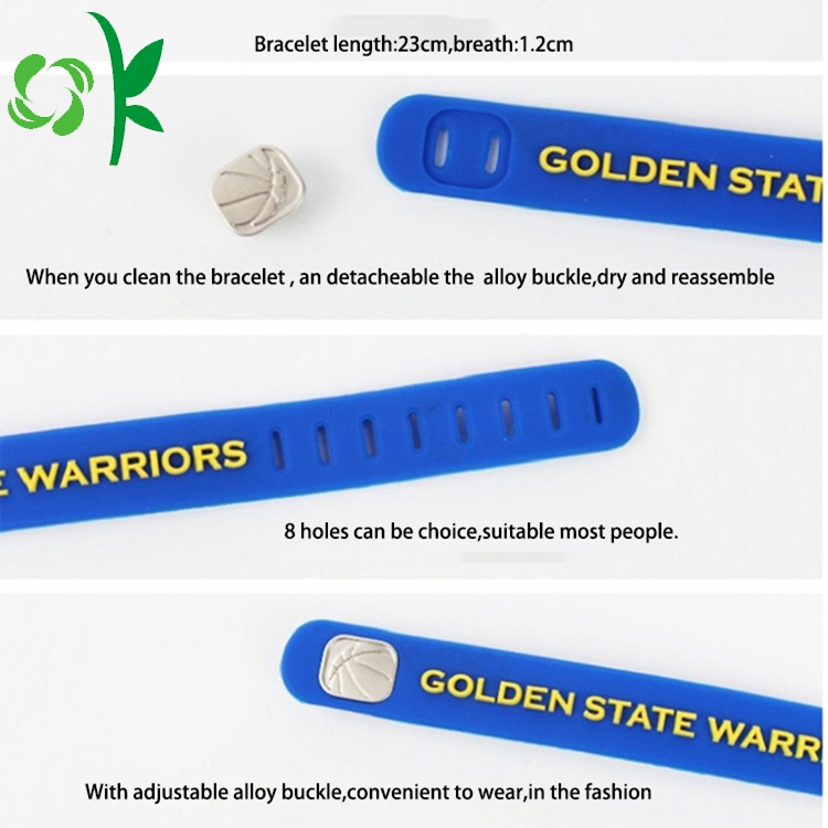 silicone embossed bracelet good