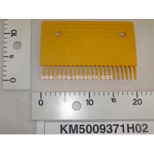 Yellow Plastic Comb Plate for KONE Escalators KM5009371H02