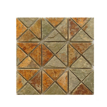 Hot Sale for Slate Mosaic Wall Tiles Rusty Natural Slate Stone Mosaics export to United States Factory