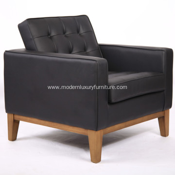 Knoll Style Wood Frame Fabric Single Sofa
