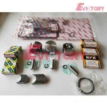 excavator F20C engine gasket bearing piston ring liner
