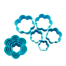 flower pp plastic cookie cutter kitchen cutter