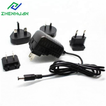 18W 36V Volt 0.5A Interchangeable Wall Plug Adapter